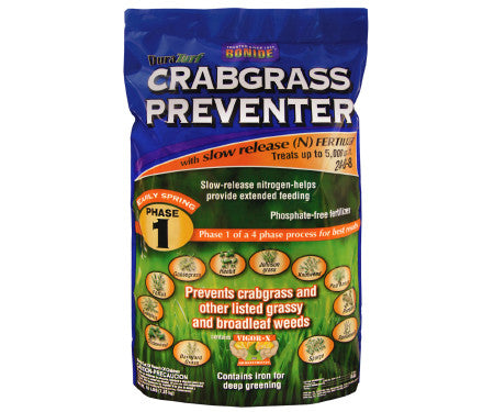 Bonide Crabgrass Preventer with Fertilizer 24-00-8 Cover 5,000sqft