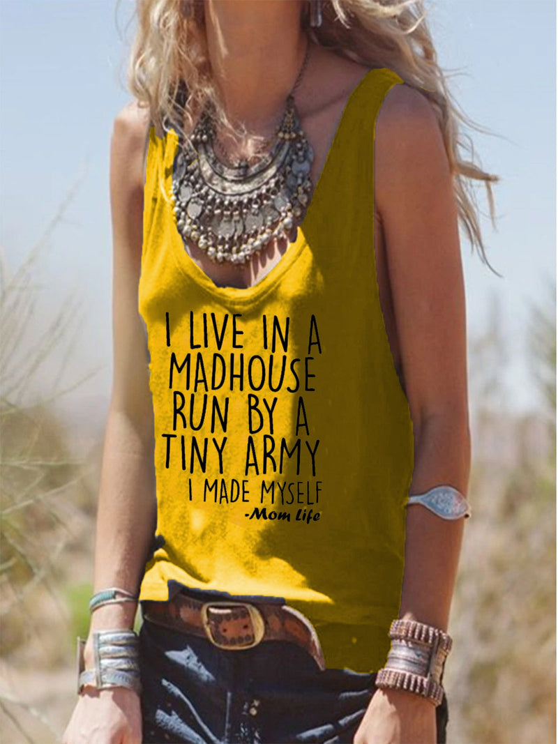 European and American summer casual printed vest