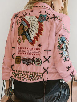 Boho Leather Jacket