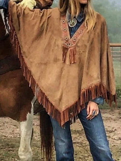 Cowboy Faux Leather Cover Up Coat