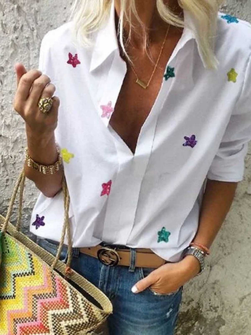White Cotton Short Sleeve Shirts & Tops