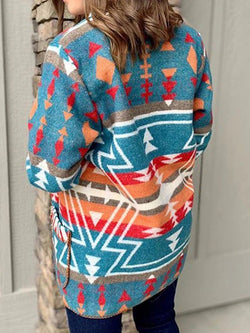 Printed Long Sleeve Outerwear