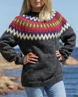 Cotton-Blend Casual Sweater