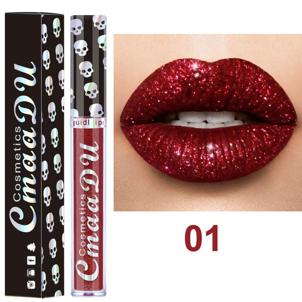 3D Shimmer Long-Lasting Glitter Liquid Lipstick Non Stickly Lip Gloss