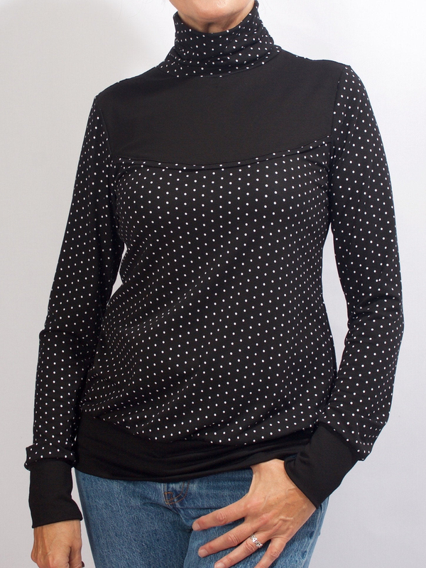 Polka Dots Casual Cotton-Blend Sweatshirt
