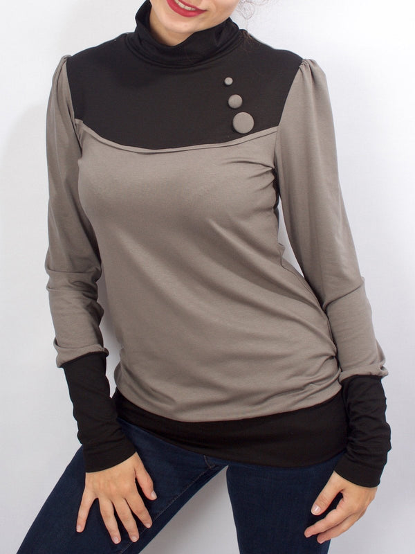 Color-Block Long Sleeve Sweatshirt