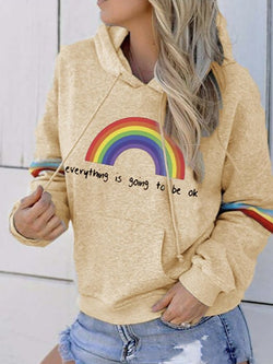 Casual Letter Long Sleeve Sweatshirt