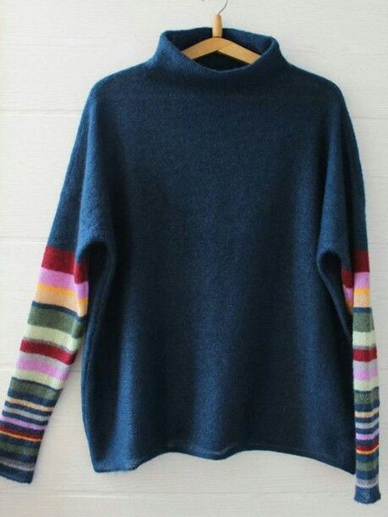 Stand Collar Vintage Shift Sweater