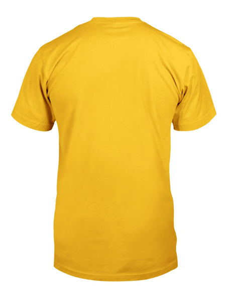 Yellow Crew Neck Cotton Short Sleeve Printed Shirts & Tops