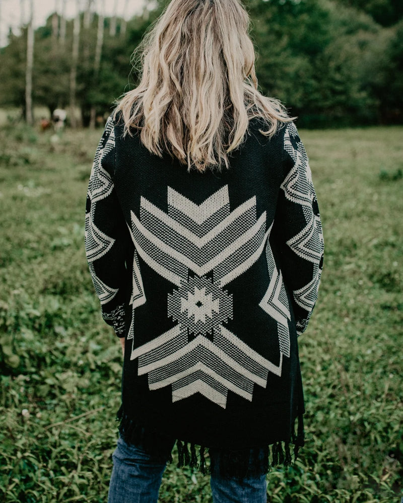 Long Sleeve Printed Outerwear