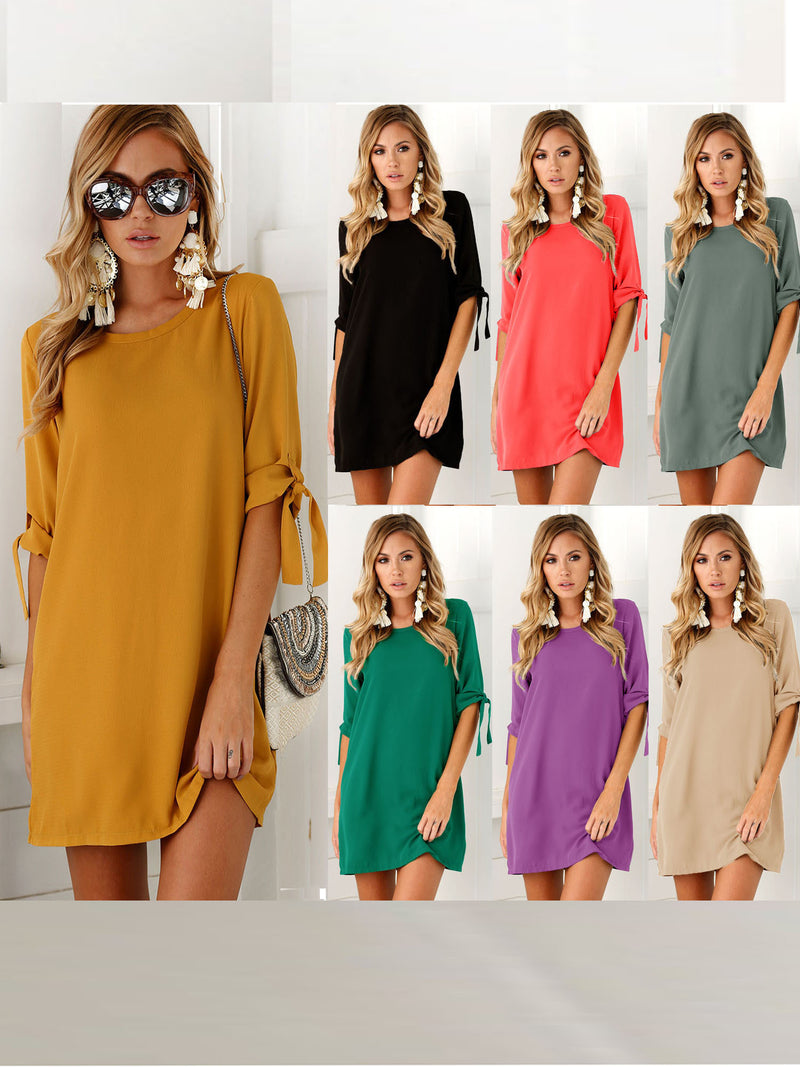 Women Square Neck Casual Casual Dresses