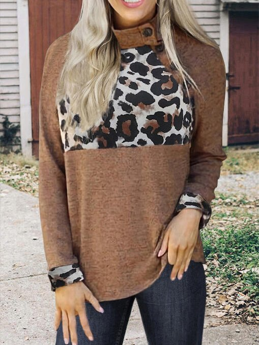 Printed Crew Neck Casual Shirts & Tops