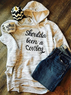 Gray Hoodie Shift Long Sleeve Letter Sweatshirt
