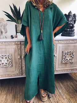Women Casual Loose Tops Tunic Hooded Maxi Dress