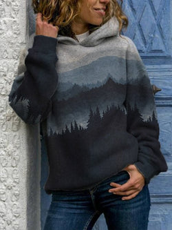Long Sleeve Casual Striped Sweatshirt