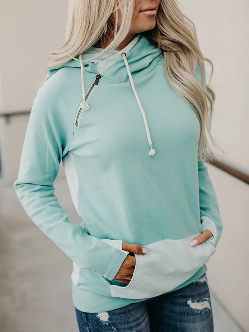 Blue Shift Raglan Sleeve Turtleneck Sweatshirt