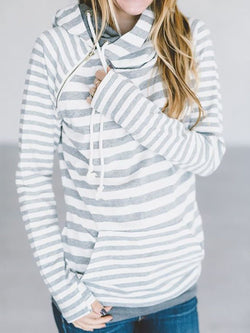 Stripe Stripes Raglan Sleeve Shift Sweatshirt