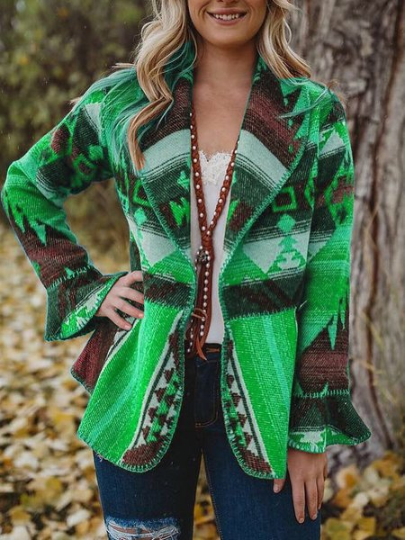 Boho Turn-Down Collar Outerwear