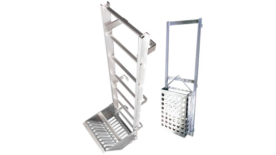 Halliday Integrated Ladder with a Debris basket