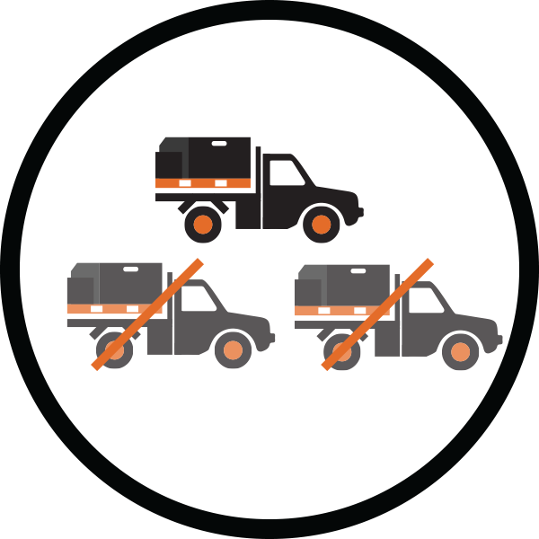 M.R.S (Modular Response System) Features & Benefit  - Reduces the number of service vehicles required