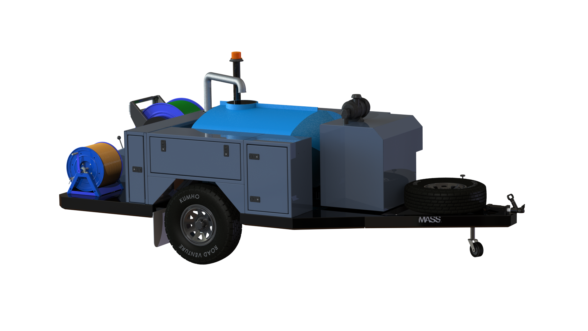 Mass Jetter Isometric View - Side
