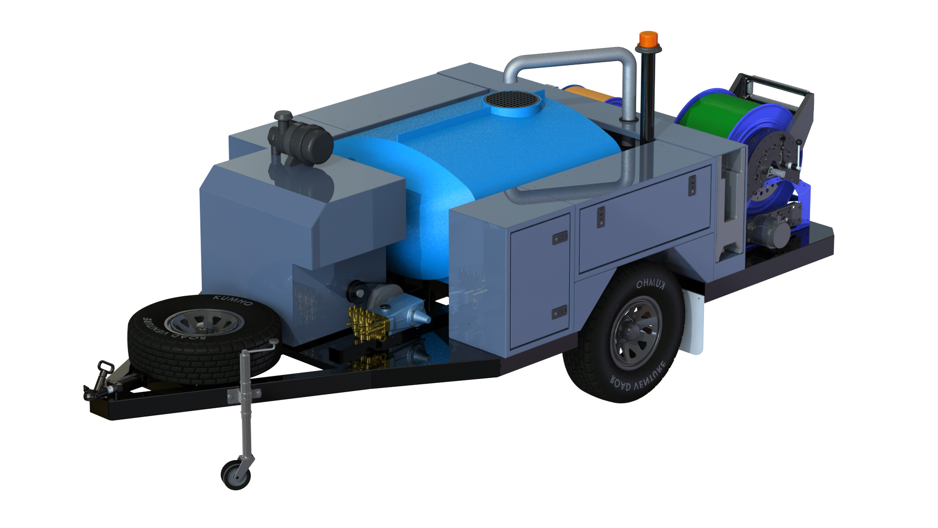 Mass Jetter Isometric View - Front