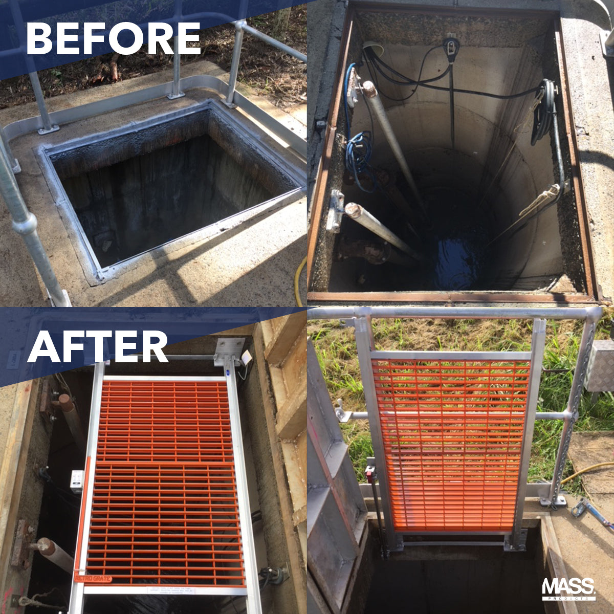 BEFORE AND AFTER INSTALLING A SERIES X RETRO-GRATE.