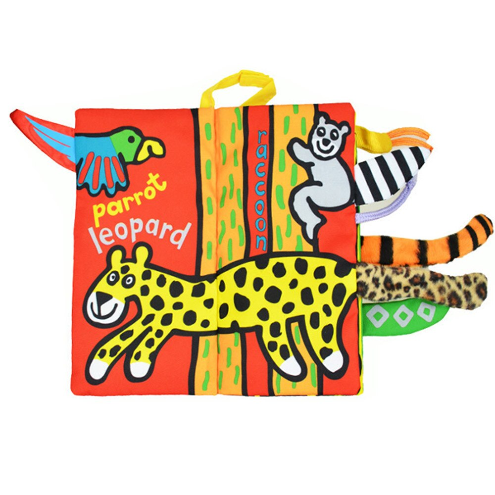 Hot Sale Baby Cloth Books Animal Tails Cloth
