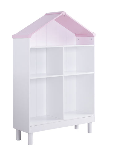 White Pink Wood Bookcase