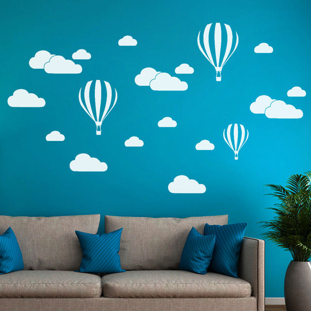 DIY Large Clouds Balloon Wall Decals Children's