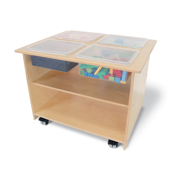 Mobile Sensory Table With Trays and Lids