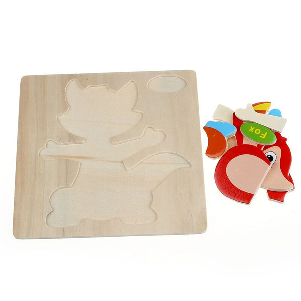 Wooden Fox Puzzle Educational Developmental