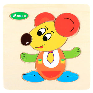 Wooden Puzzle Educational Developmental Baby Kids