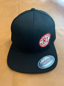 Black Flex Fit hat with patch
