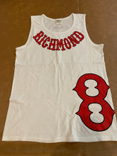 Load image into Gallery viewer, White Tank Top Richmond on collar