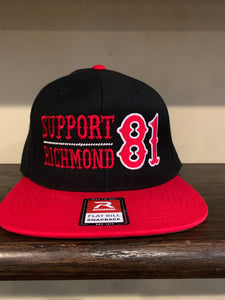Black SnapBack with red bill