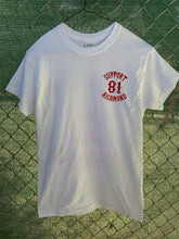 Load image into Gallery viewer, White t shirt red 81 patch