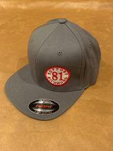 Load image into Gallery viewer, Grey flex fit hat with small support richmond 81 patch, one size fits all