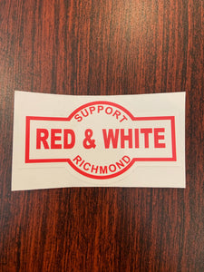 Support red and white richmond