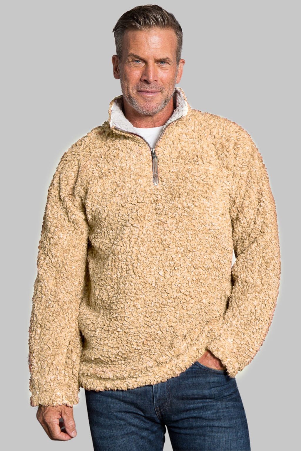 Softest Tip Shearling 1/4 Zip Pullover
