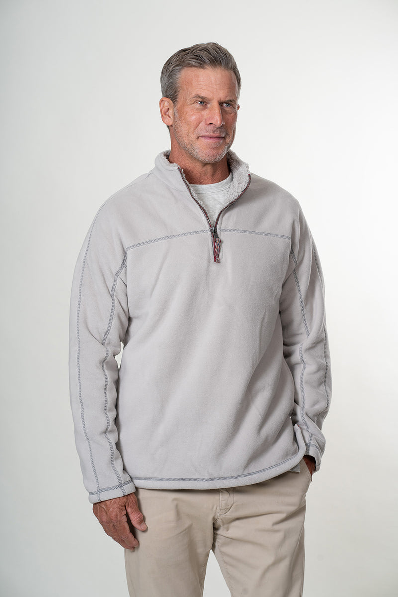 Bonded Polar Fleece & Sherpa 1/4 Zip Pullover