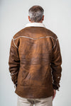 Vintage Bonded Leather Button Jacket