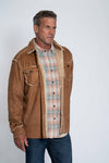 Vintage Washed Sherpa Button Jacket