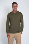 Melange Burnout Long Sleeve Henley
