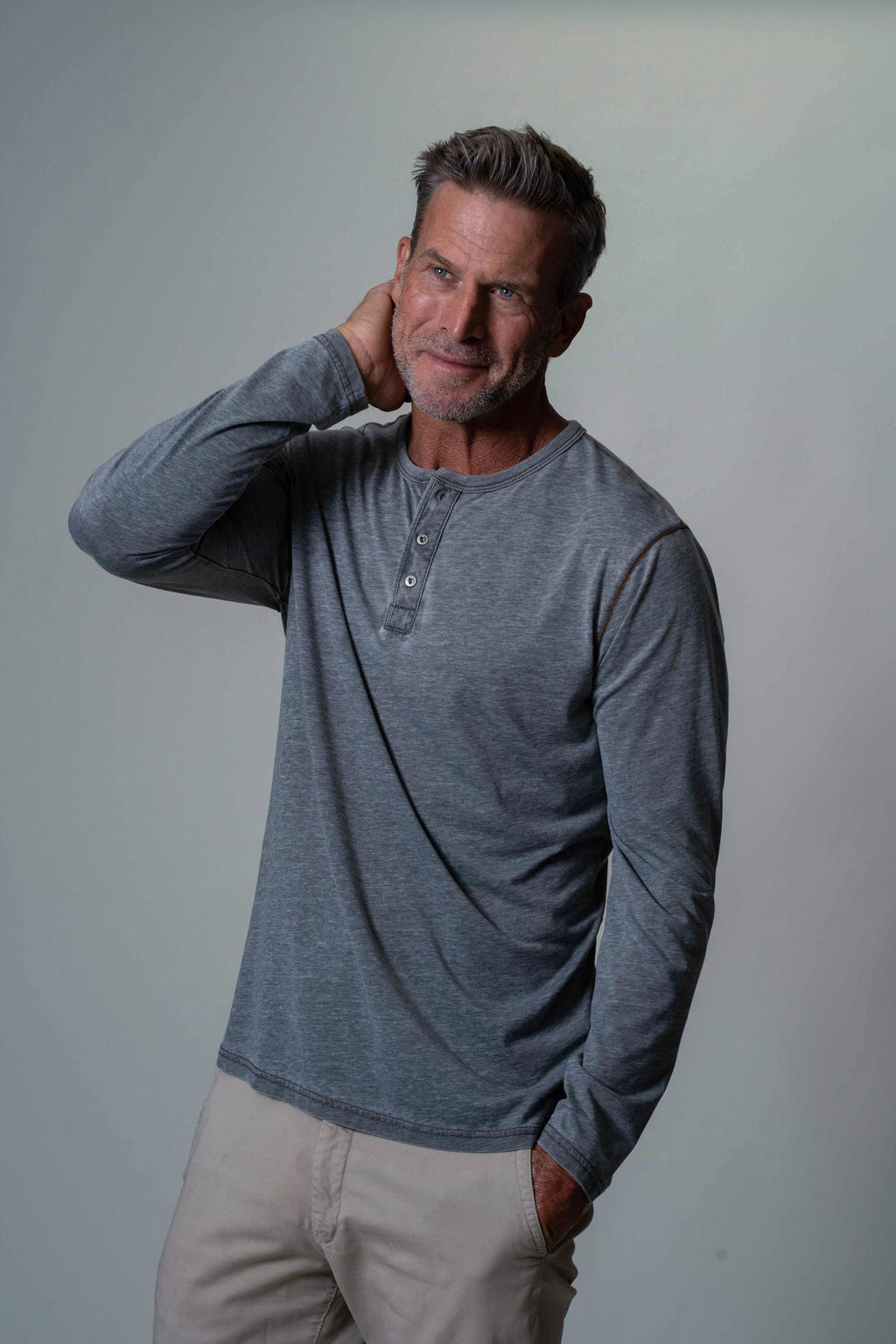 Bowery Burnout Long Sleeve Henley