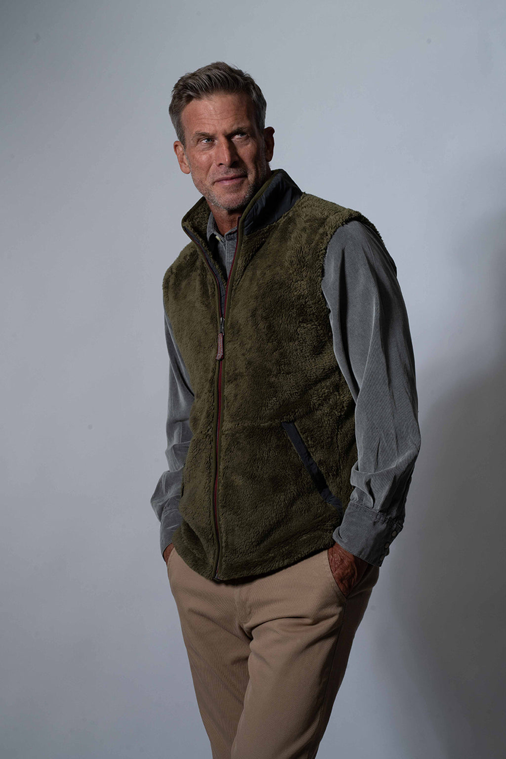 Luxe Double Plush Zip Vest