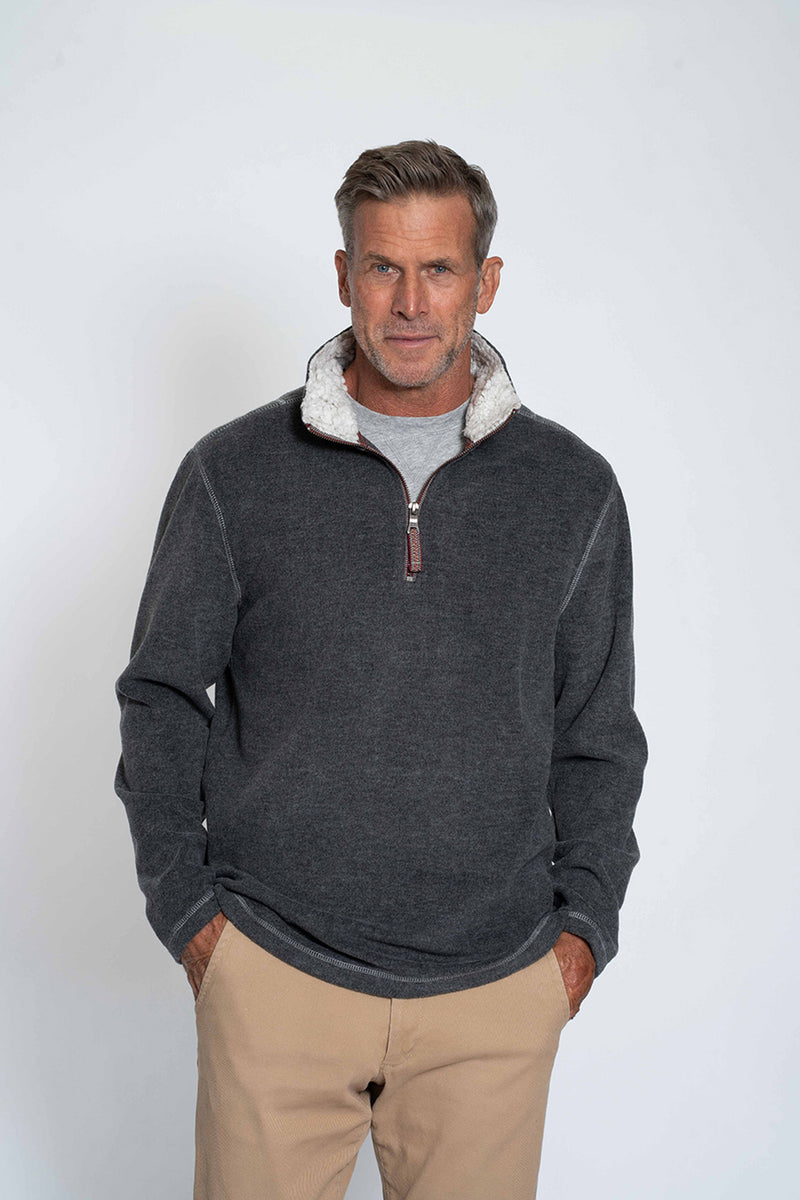 Melange Soft Fleece 1/4 Zip Pullover