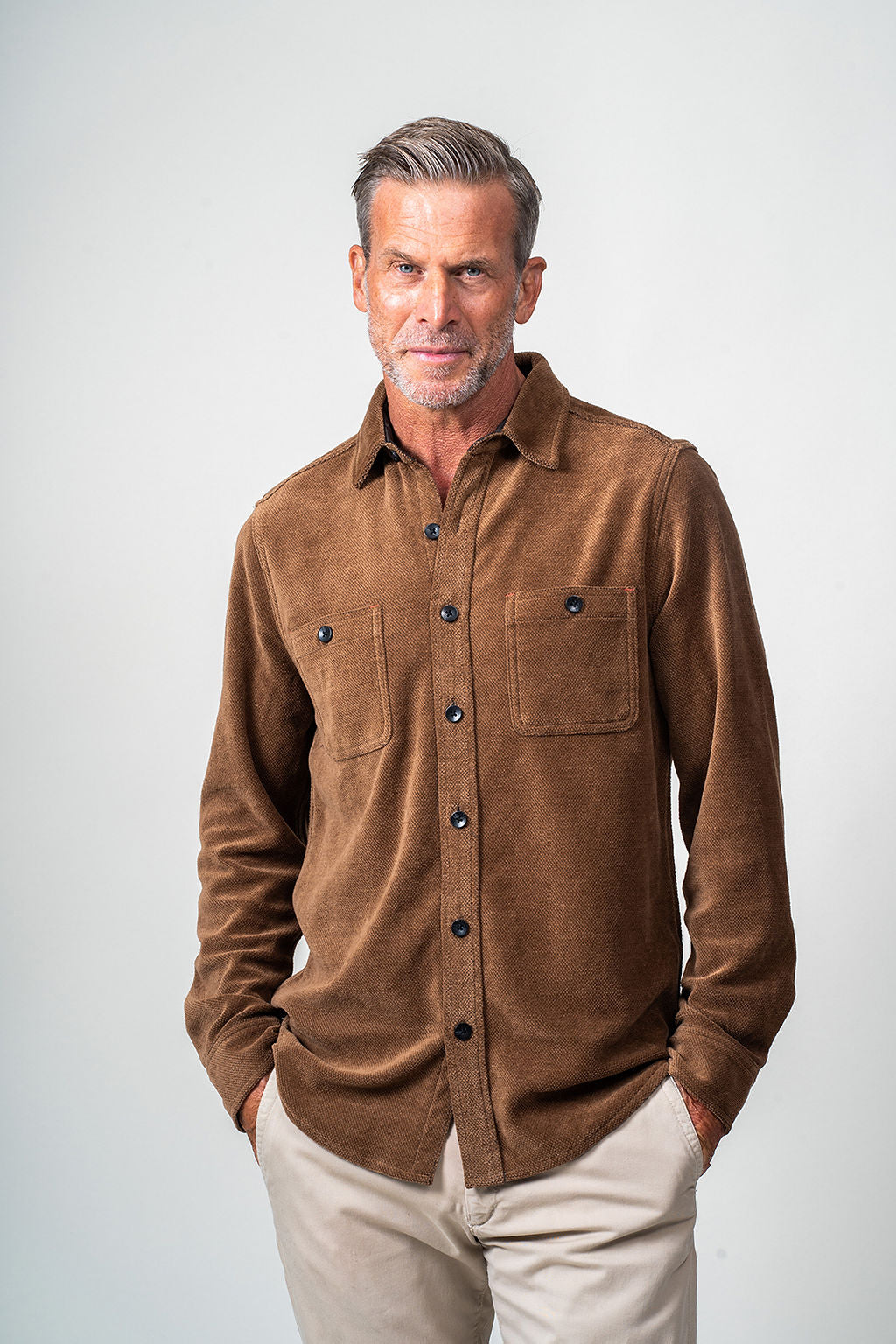 Chenille Shirt Jacket