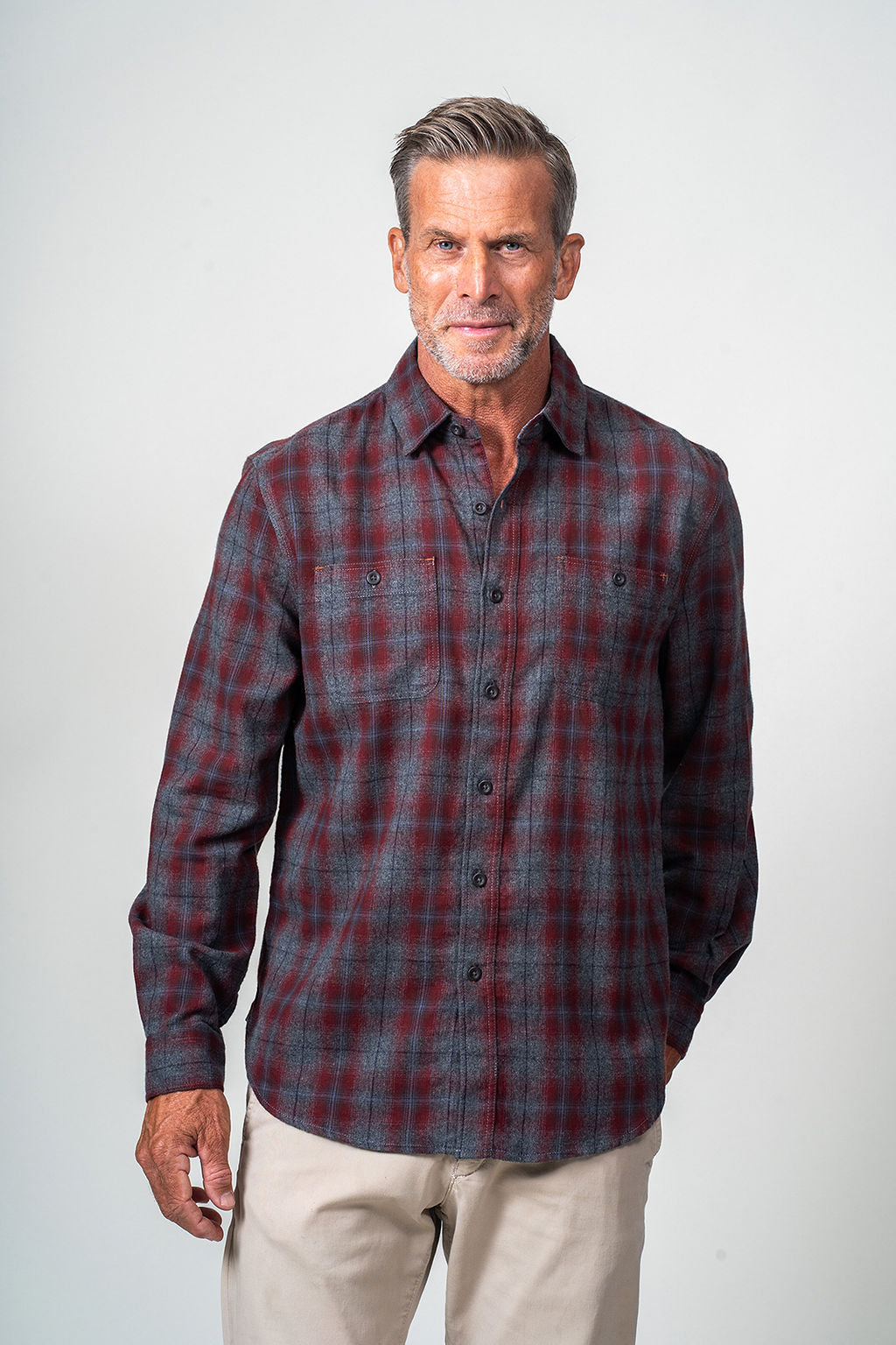 Redford Plaid Long Sleeve Shirt
