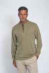 Sueded Tencel Long Sleeve Banded Henley